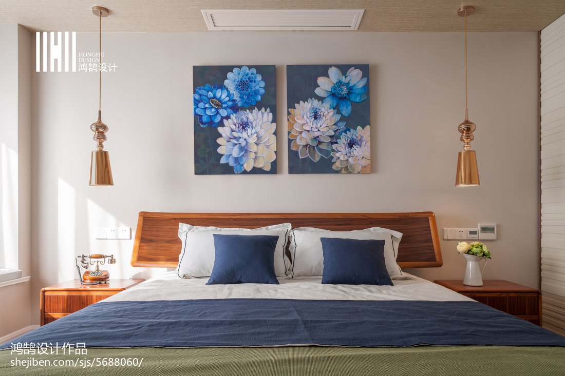 热门面积94平简约三居卧室装修设计效果图片卧室床现代简约卧室设计图片赏析