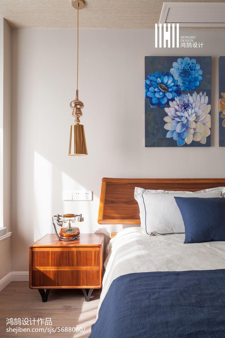 热门94平米三居卧室简约实景图片卧室现代简约卧室设计图片赏析