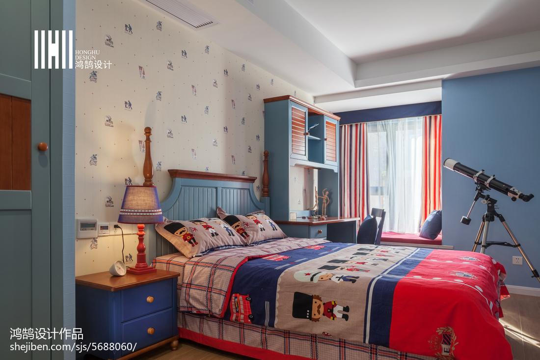 面积101平简约三居儿童房装修欣赏图卧室现代简约卧室设计图片赏析