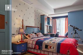 面积101平简约三居儿童房装修欣赏图