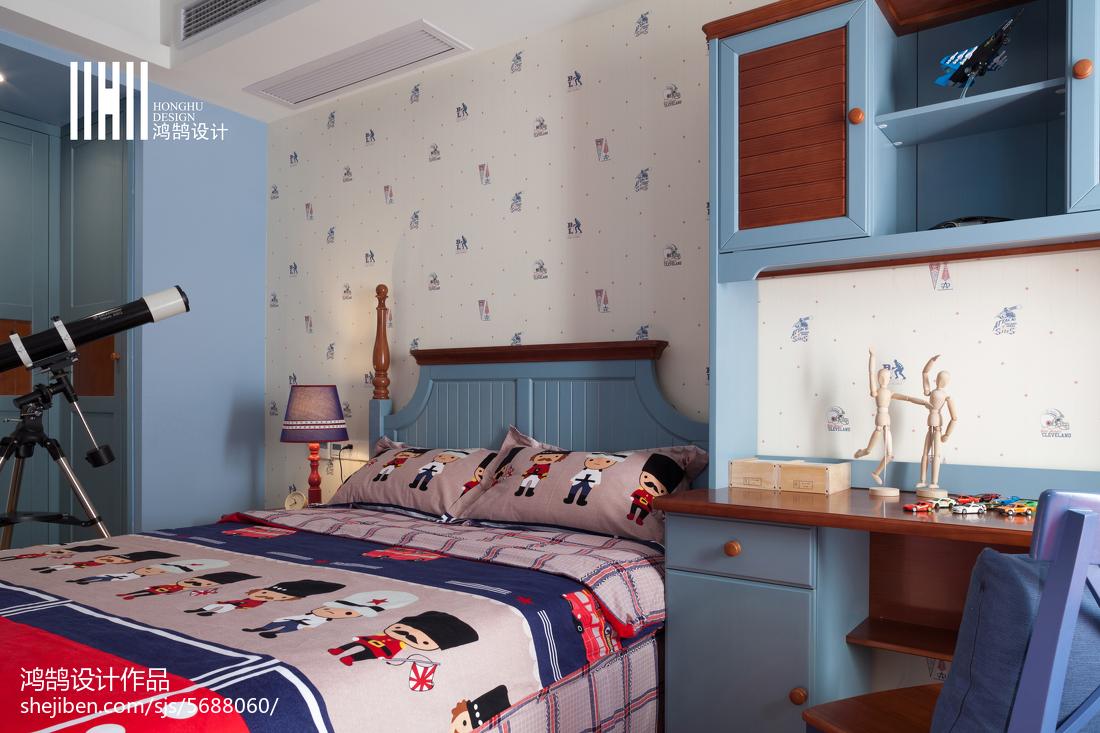 2018简约三居儿童房装修效果图卧室现代简约卧室设计图片赏析
