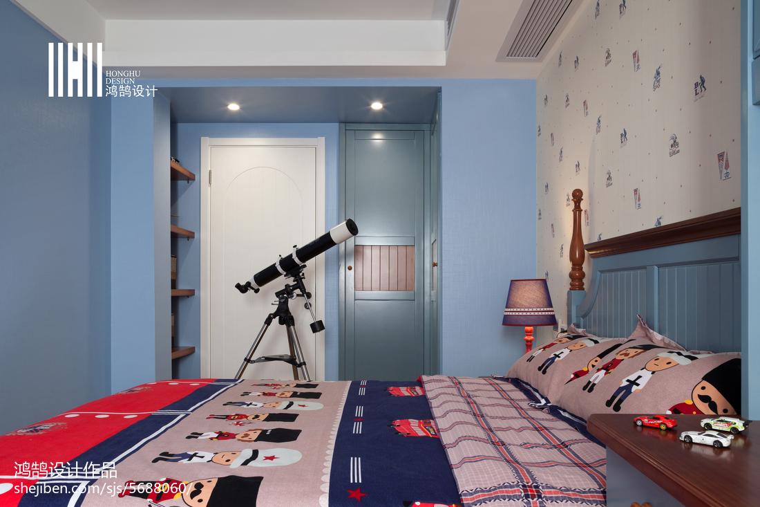 平米三居儿童房简约装修实景图片卧室现代简约卧室设计图片赏析