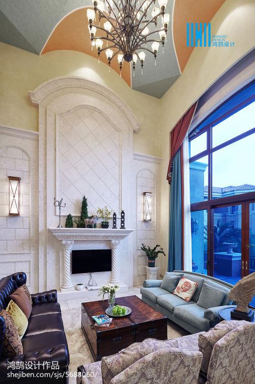 精美大小118平别墅客厅混搭欣赏图客厅窗帘1图