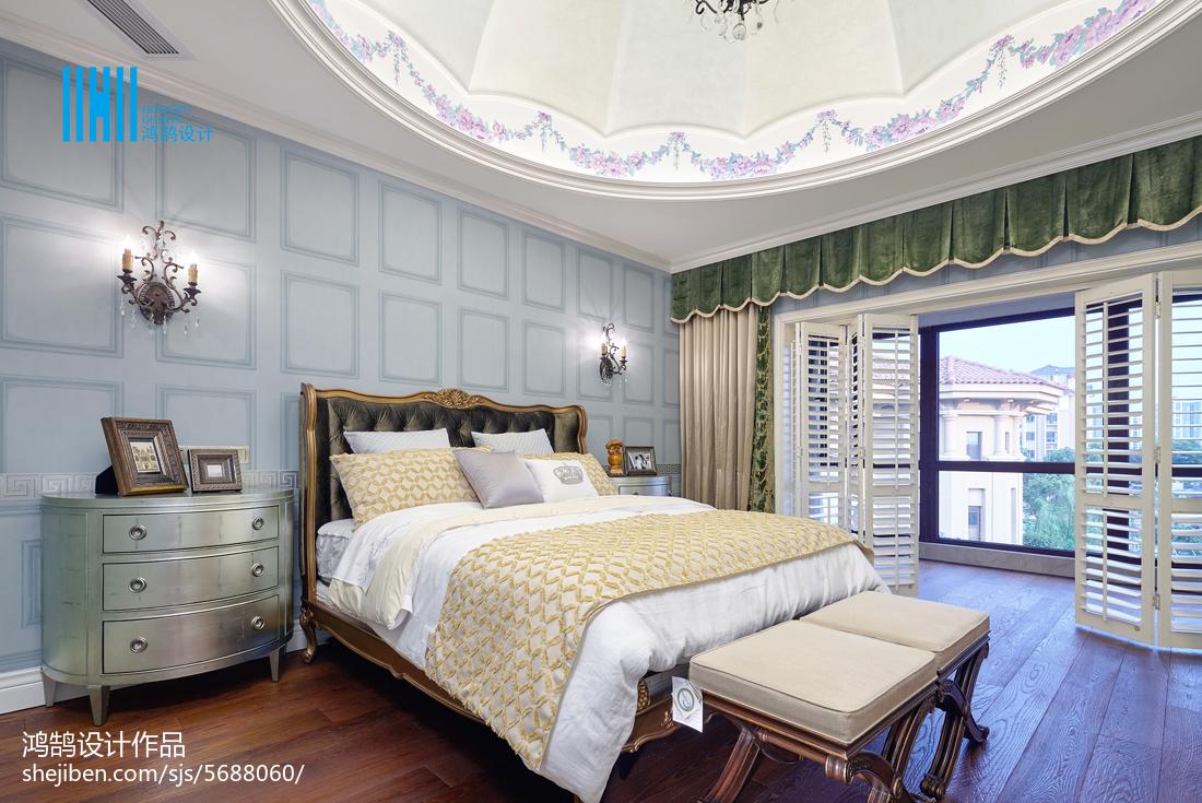 2018面积111平别墅卧室混搭欣赏图卧室窗帘潮流混搭卧室设计图片赏析