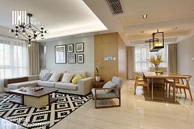 热门96平米三居客厅简约装修设计效果图片欣赏三居现代简约家装装修案例效果图