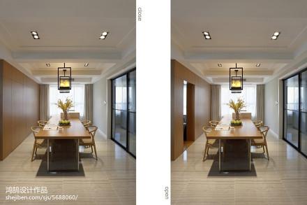 精选面积93平简约三居餐厅效果图片欣赏