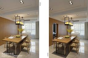 2018精选面积107平简约三居餐厅欣赏图片大全家装装修案例效果图