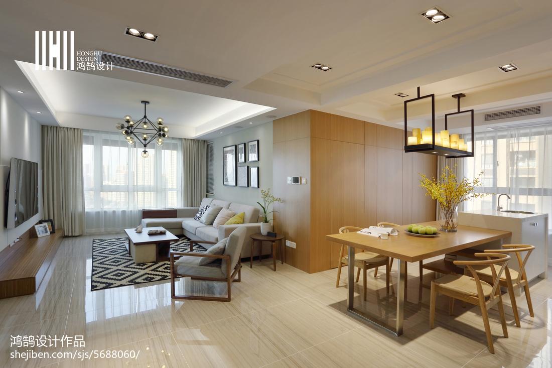 热门面积98平简约三居餐厅装修设计效果图客厅现代简约客厅设计图片赏析