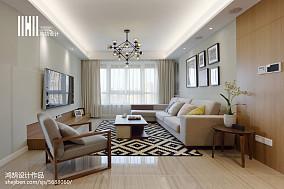 精选95平米三居客厅简约装饰图片大全三居现代简约家装装修案例效果图