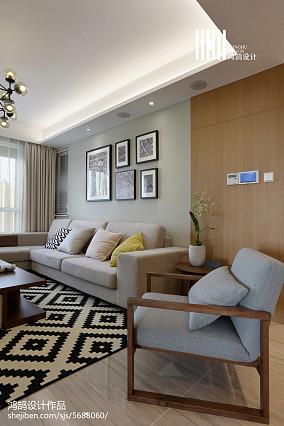 轻奢73平简约三居客厅装修设计图三居现代简约家装装修案例效果图