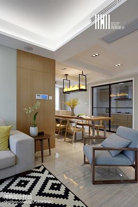 平米三居客厅简约装修图片三居现代简约家装装修案例效果图