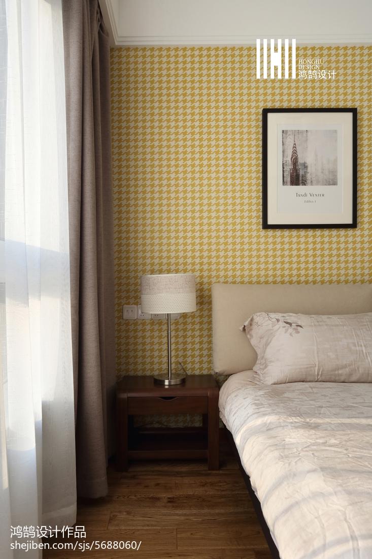 面积92平简约三居卧室装饰图卧室现代简约卧室设计图片赏析