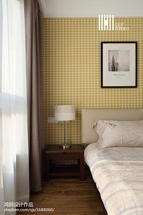面积92平简约三居卧室装饰图