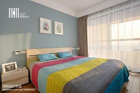 2018精选101平方三居卧室简约设计效果图三居现代简约家装装修案例效果图