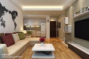 精美面积79平简约二居客厅装修设计效果图片大全