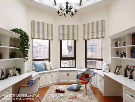 温馨500平美式别墅装修效果图别墅豪宅美式经典家装装修案例效果图