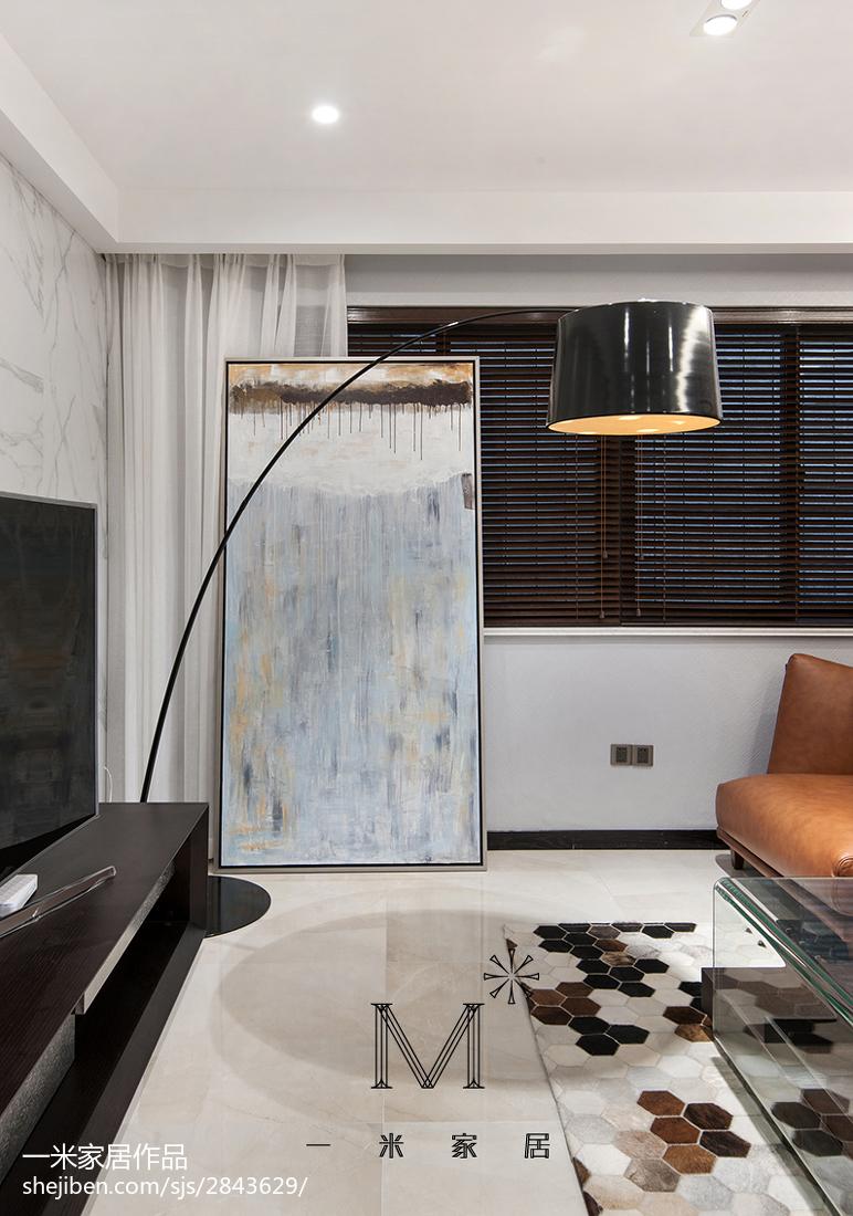 2018大小105平现代三居客厅装修欣赏图片客厅沙发现代简约客厅设计图片赏析