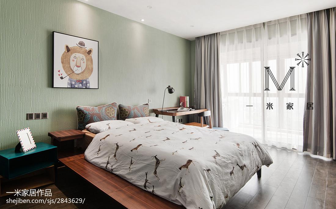 现代时尚卧室家装效果图现代简约设计图片赏析