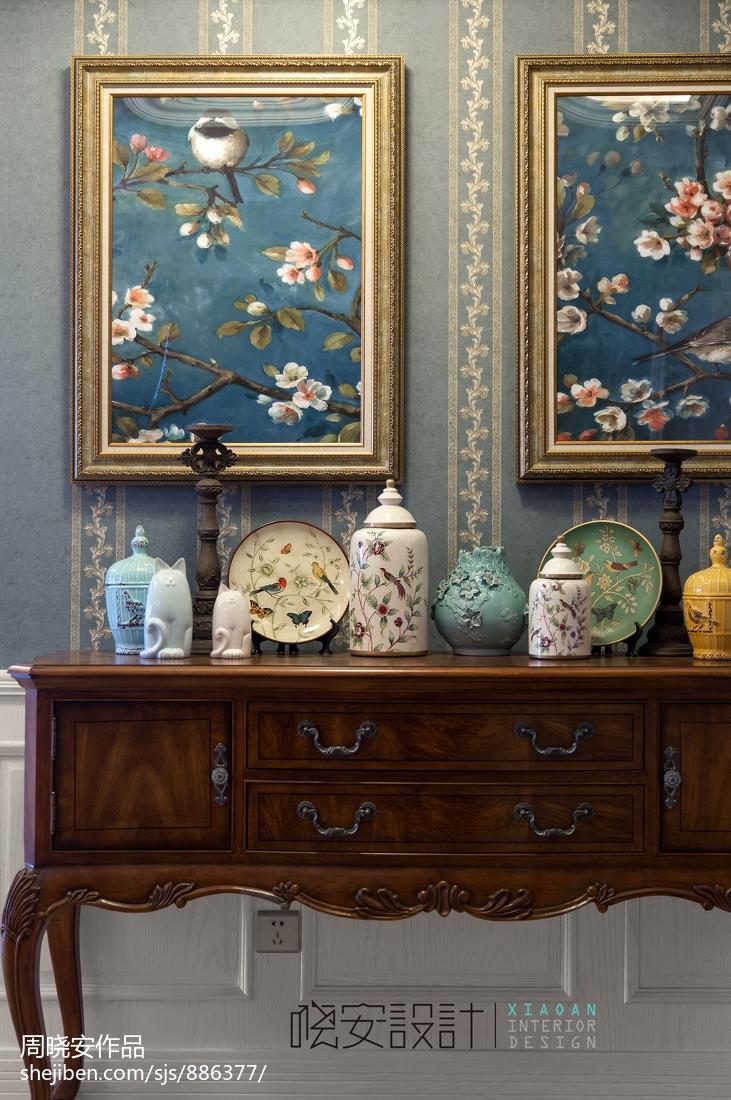 优美42平美式复式客厅装潢图客厅