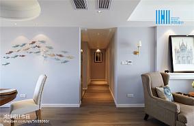 2018面积103平美式三居过道装修效果图片大全三居美式经典家装装修案例效果图
