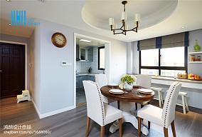 精选91平米三居餐厅美式装修实景图片大全三居美式经典家装装修案例效果图
