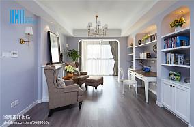 大小90平美式三居客厅装饰图片大全三居美式经典家装装修案例效果图