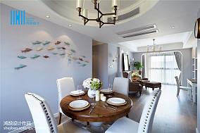 轻奢87平美式三居装修设计图三居美式经典家装装修案例效果图