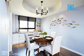 精选大小91平美式三居餐厅欣赏图三居美式经典家装装修案例效果图