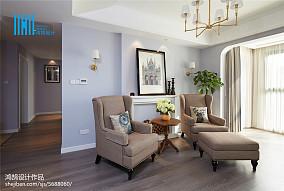 优美123平美式三居客厅图片欣赏三居美式经典家装装修案例效果图