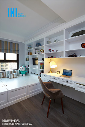 浪漫125平美式三居装修效果图三居美式经典家装装修案例效果图