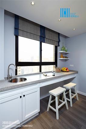 轻奢110平美式三居装修效果图三居美式经典家装装修案例效果图