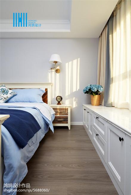 美式飘窗窗台装修图片卧室