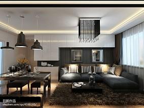 精美102平方三居客厅简约装修欣赏图