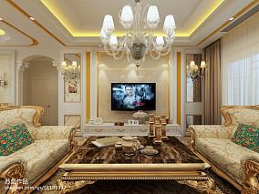 简欧豪华客厅装修设计