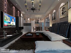 精美79平米简约小户型客厅效果图片大全