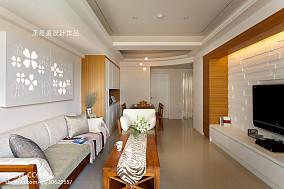 热门108平米三居餐厅东南亚实景图片大全