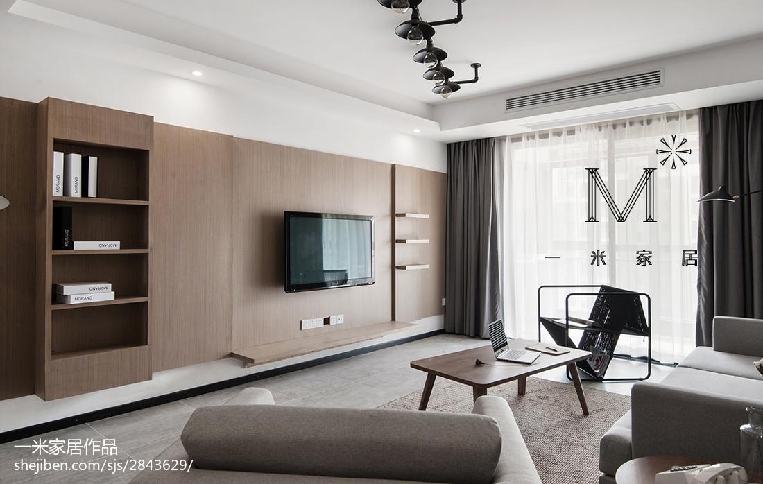 精选大小107平现代三居客厅装修实景图片客厅现代简约客厅设计图片赏析