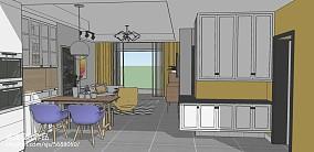 温馨70平北欧二居客厅案例图二居北欧极简家装装修案例效果图