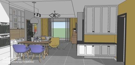 温馨70平北欧二居客厅案例图