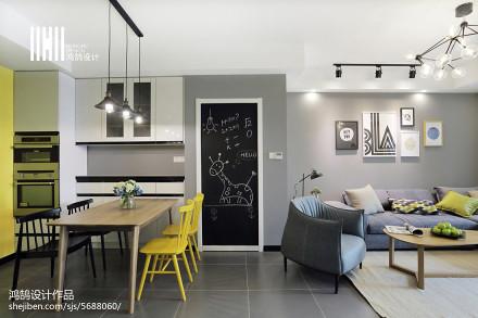 2018面积70平北欧二居餐厅设计效果图