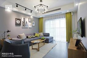 精美75平米二居客厅北欧装修设计效果图片