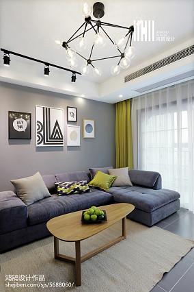 77平米二居客厅北欧欣赏图片大全二居北欧极简家装装修案例效果图