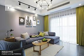 精美面积72平北欧二居客厅装修效果图
