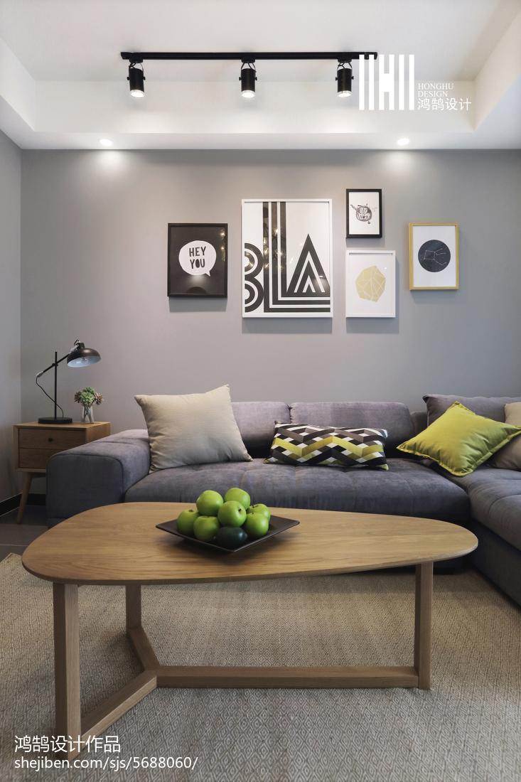 2018二居客厅北欧装修欣赏图片客厅北欧极简客厅设计图片赏析