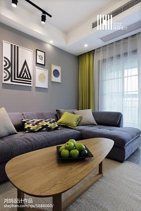 华丽53平北欧二居客厅效果图欣赏二居北欧极简家装装修案例效果图