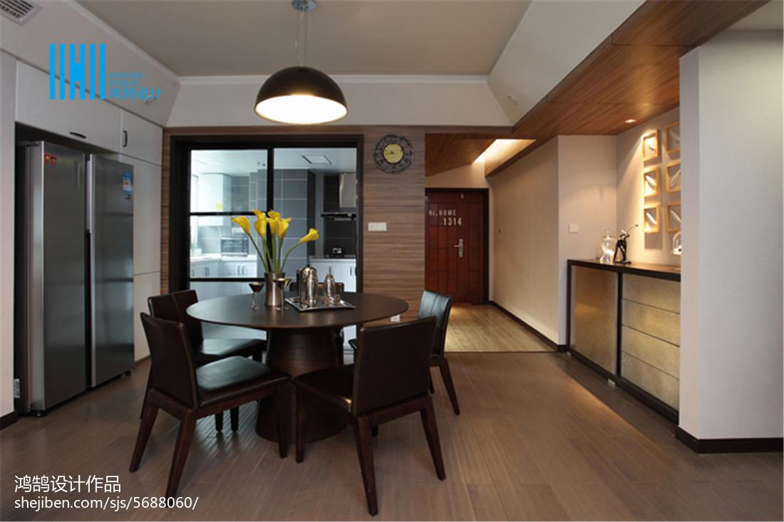 2018大小91平现代三居餐厅装修设计效果图片大全厨房木地板现代简约餐厅设计图片赏析