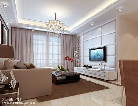 106平米三居客厅简欧装修设计效果图