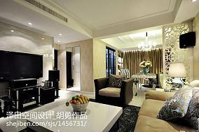 低调标准两室两厅户型效果图
