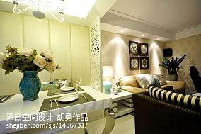 精致标准两室两厅户型效果图