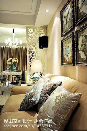 浪漫标准两室两厅户型效果图